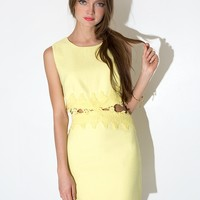 Pastel Yellow Crochet Dress