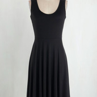 Minimal Long Tank top (2 thick straps) A-line For Any Endeavor Dress in Black