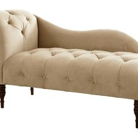 Francis Single-Arm Chaise, Buckwheat