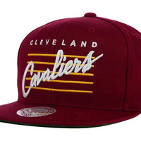 Cleveland Cavaliers Mitchell and Ness NBA Cursive Retro Snapback Cap