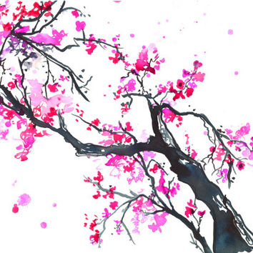 The Promise of Spring, print from original watercolor and ink painting by Jessica Durrant