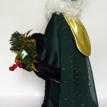 Santa Father Christmas Doll OOAK Hand Made Sculpted Face & Hands