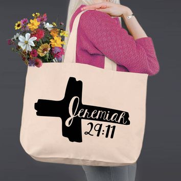 Jeremiah 29:11 | Canvas Tote Bag