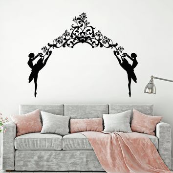 Vinyl Wall Decal Ballerinas Ballet Dance Woman Dancer Arch Stickers Unique Gift (1649ig)
