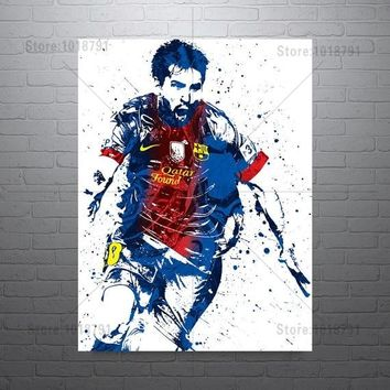 5D Diy Diamond Painting Lionel Messi FC Barcelone Football Cross Stitch Diamond Mosaic Diamond Embroidery Rhinestones Home Decor