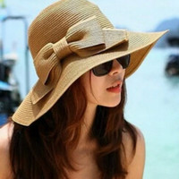 Cupshe Wanderer Bowknot Straw Hat