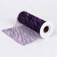 Purple - 6 Inch Organza Animal Print - Tulle Fabric