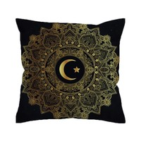BeddingOutlet Mandala Cushion Cover Star Moon Pillowcase Sofa Throw Cover Flowers Bohemian Decorative Pillow Cover