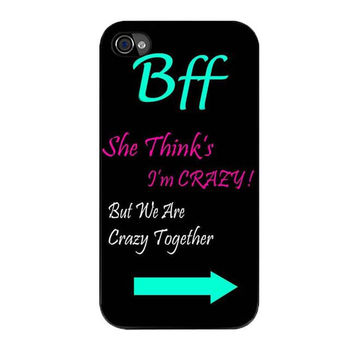 best friends bff in pairs left 1 iPhone 4 4s 5 5s 5c 6 6s plus cases