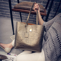 Women Leather Large Tote Bag Designer Shoulder Bag