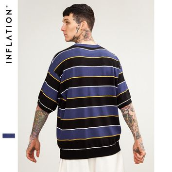 Knit Men's Fashion High Quality Stripes Tops [753821548637]