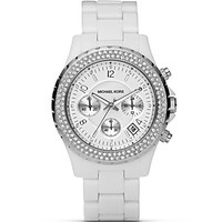 Michael Kors White Chronograph Watch, 42 mm | Bloomingdale's