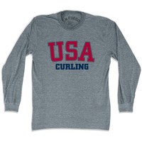 USA Curling Long Sleeve T-shirt