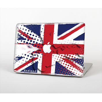 "The Grunge Vector London England Flag Skin Set for the Apple MacBook Pro 15"" with Retina Display"