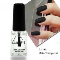 Free Shipping 1Pcs 6ML Nail Polish Magic Super Matte Transparent Nails Art Gel Frosted Surface Oil Nail Polish high quality