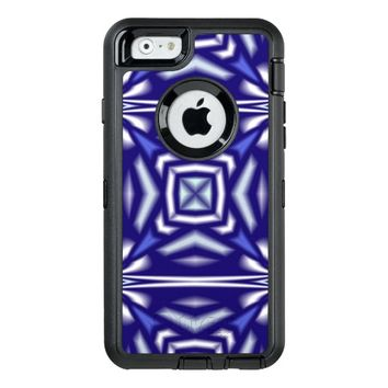 blue geometric OtterBox defender iPhone case