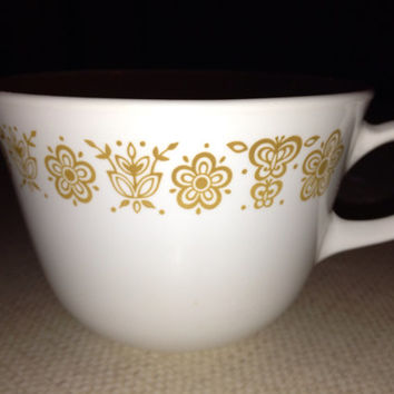 Vintage Corelle Butterfly Gold Cups
