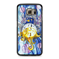 Sun and Moon Art Painting Cute Sky Tumblr Samsung Galaxy S6 case