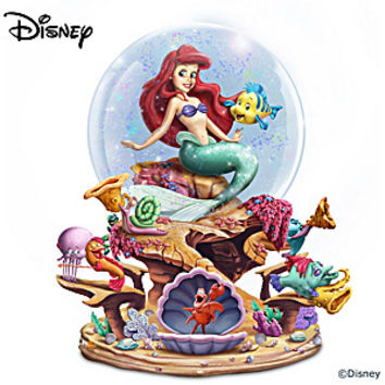 Disney The Little Mermaid Musical Glitter Globe