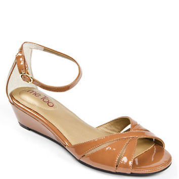 Me Too Sarina Patent Leather Wedge Sandals