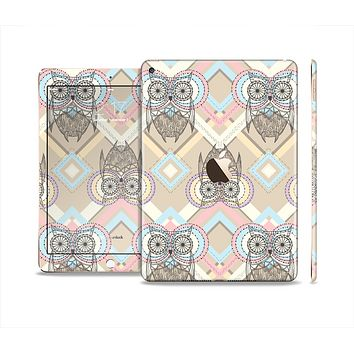 The Vintage Abstract Owl Tan Pattern Skin Set for the Apple iPad Air 2