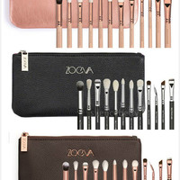 Too top 12 pcs zoeva brushes makeup tools rose gold make up pro for Eye shadow and face concealer cosmetics kits naked maquiagem