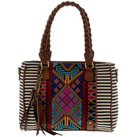 Summer Tribal Convertible Satchel
