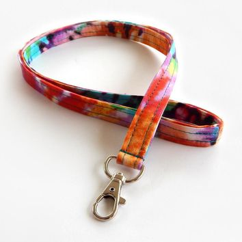 Bright & Colorful Lanyard - Tie Dye