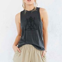 Truly Madly Deeply Eye Of Wonder Embroidered Muscle Tee