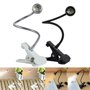 LS4G Delicate Mini USB Clip Flexible Reading LED Light Clip-on Beside Bed Table Desk Lamp Book Free Shipping