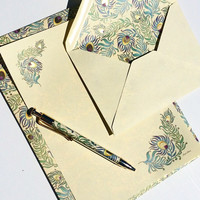 Italian Peacock Stationery Set