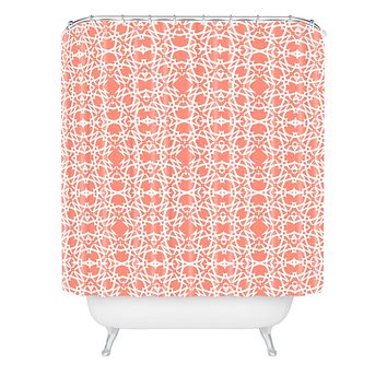 Lisa Argyropoulos Electric in Peach Shower Curtain