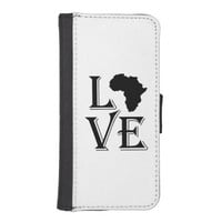 Love Africa Continent Phone Wallet