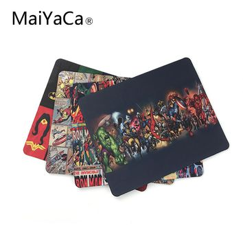 MaiYaCa Marvel Comics Superheroes Collage Customized Mouse Pad Fashion Avengers Computer Notebook Gaming Mice Mat Pad