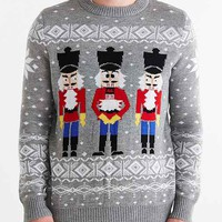 Tipsy Elves Nutcrackers Crew Neck Sweater- Grey