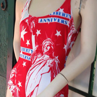 FREE SHIPPING Vintage  Summer Fourth of July  by Thriftoria