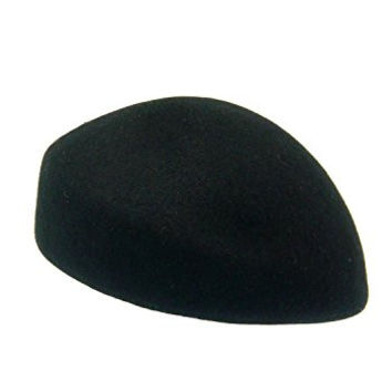 HATsanity Women's Vintage Wool Felt Soft Cadet Pillbox Hat Black