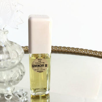 Vintage Givenchy III Eau De Toilette Spray 1 Fl oz, Vintage Perfume EDT Spray, Women's Fragrance, French Perfume, Gift for Her