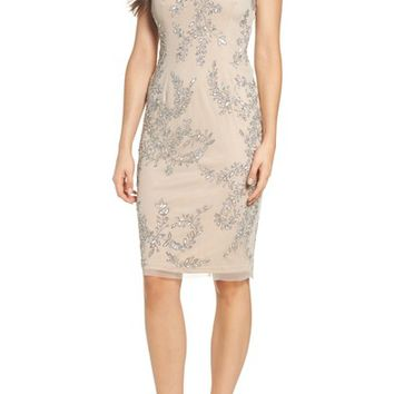 Adrianna Papell Beaded Sheath Dress | Nordstrom
