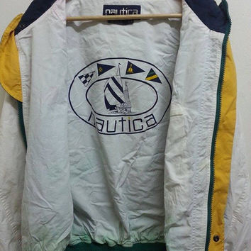 Vintage 1990s NAUTICA Yacht Outdoor Bomber Pullover Jacket