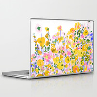 Flower Fields Sunshine Laptop & iPad Skin by Amy Sia