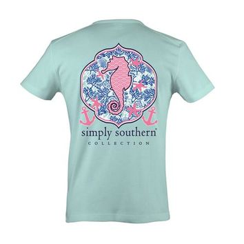 Palmetto Moon | Simply Southern Seahorse T-shirt | Palmetto Moon