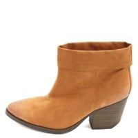 Qupid Cuffed Pointed Toe Ankle Boots by Charlotte Russe