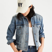 AEO Tinted Denim Jacket, Medium Wash