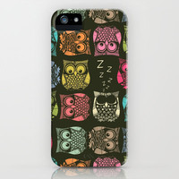 sherbet owls iPhone Case by Sharon Turner