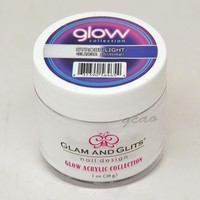Glam and Glits GLOW ACRYLIC Glow in the Dark Nail Powder 2032 Strobe Light