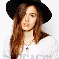 ASOS Straw Fedora Hat With Skinny Band
