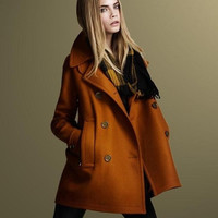 New Autumn And Winter Wool Coat women double-breasted Fashion Long Jacket women's trench Woolen Material
