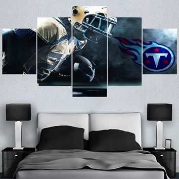 5 Pcs Sport Poster Paintings Tennessee Titans Modern Home Decor Living Room Bedroom Wall Art Canvas Print Painting Calligraphy