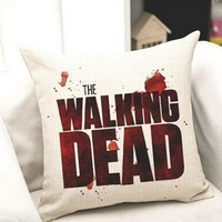 The Walking Dead Cotton Linen Pillow Case